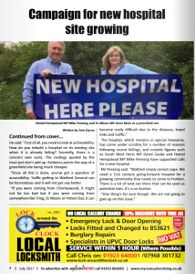 News - Mike Penning & Anne Main - New hospital here please