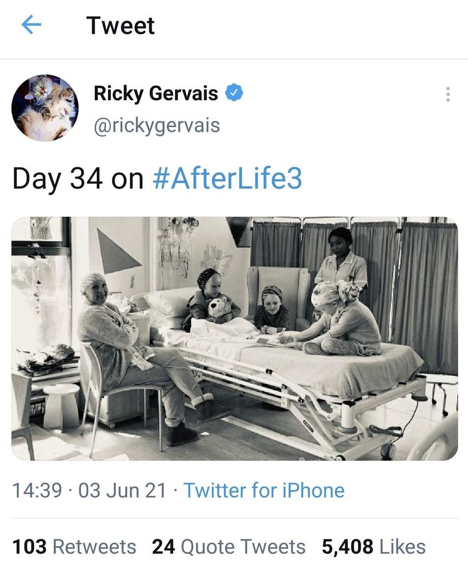 Ricky Gervais Afterlife film set in Hemel Hempstead hospital